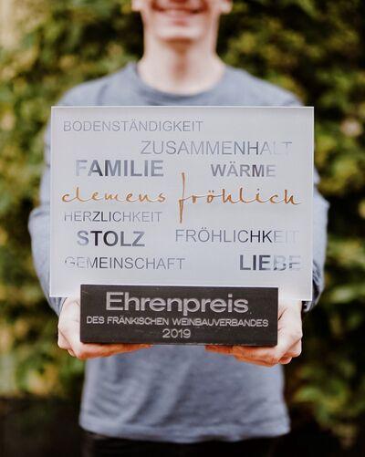 Ehrenpreis des fränkischen Weinbauverbandes 2019
